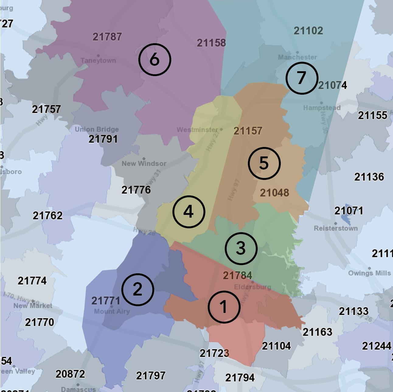 My Carroll Direct Regions